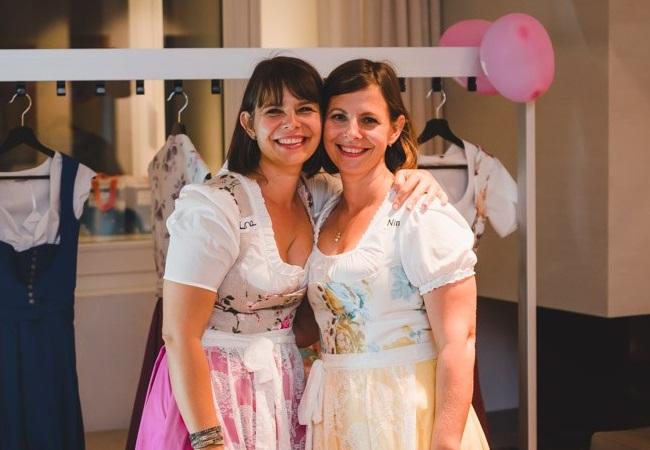 Стилисты Нина и Лена на мероприятии Мюнхенского Банка