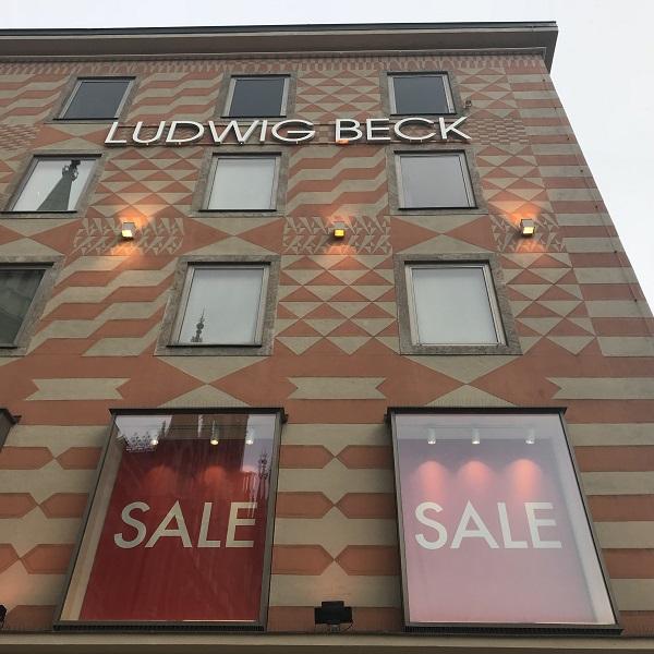 Распродажи в Мюнхене в магазине Людвиг Бек