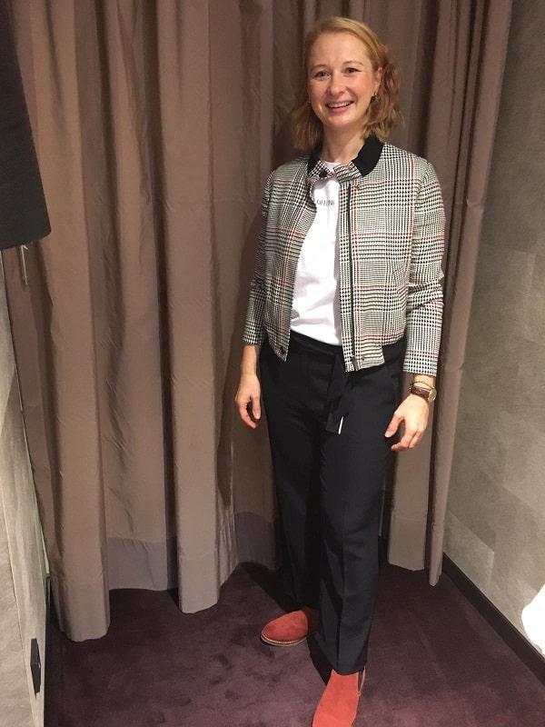 Бомбер и белая блузка консультация стилиста