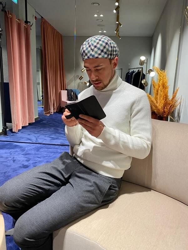 Ким - серые брюки - мужской стилист