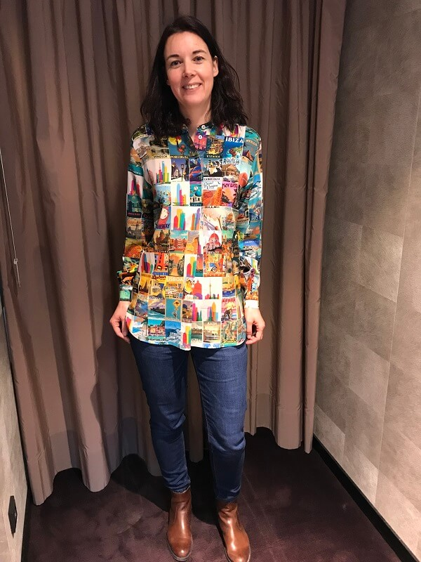яркая блузка - шоппинг в Мюнхене