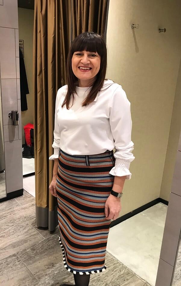 Орнелла блузка с юбкой шоппинг